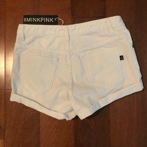 MINKPINK Shorts - MINKPINK white jean shorts